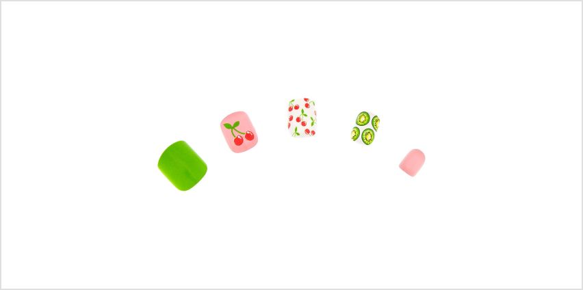 Go to Product: Summer Fruit Square Press On Faux Nail Set -  24 Pack from Claires
