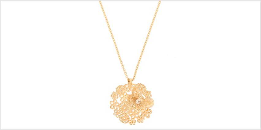 Go to Product: Gold Filigree Butterfly Long Pendant Necklace from Claires