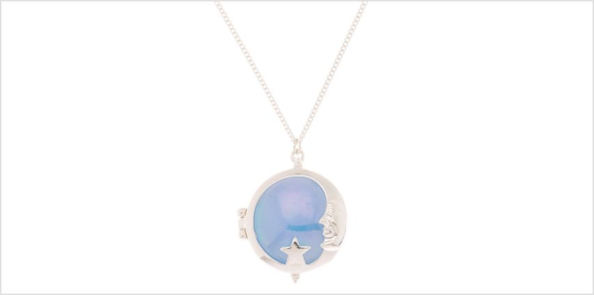 Go to Product: Silver Moon Locket Long Pendant Necklace from Claires