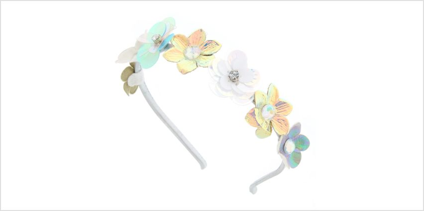 Go to Product: Iridescent Faux Flower Headband from Claires