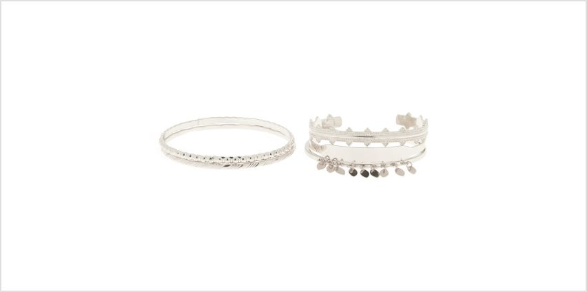 Go to Product: Silver Festival Bangle Bracelets - 5 Pack from Claires