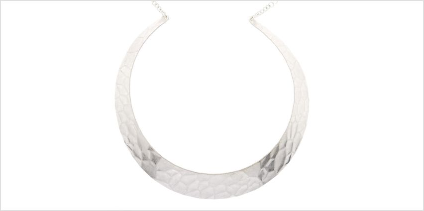 Go to Product: Silver Textured Collar Choker Necklace from Claires