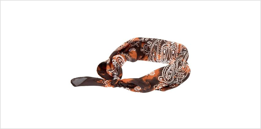 Go to Product: Tie Dye Paisley Knotted Bandana Headwrap - Brown from Claires