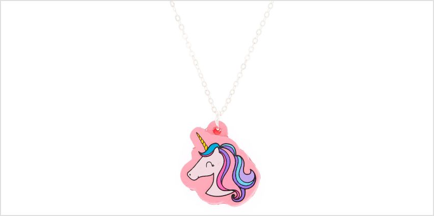 Go to Product: Squishy Glam Unicorn Pendant Necklace from Claires