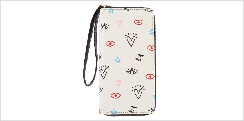 Go to Product: Doodle Icon Wristlet - White from Claires