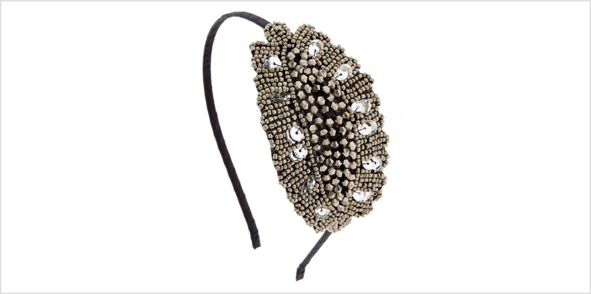 Go to Product: Vintage Silver Beaded Headband from Claires