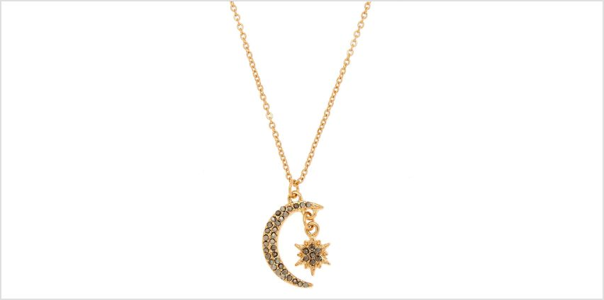 Go to Product: Gold Moon & Star Pendant Necklace from Claires