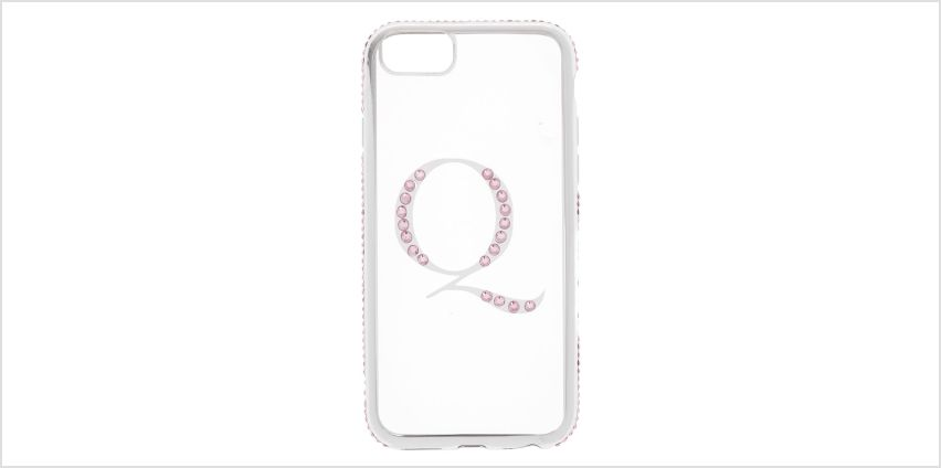 Go to Product: Pink Stone Q Initial Phone Case - Fits iPhone 6/7/8 from Claires