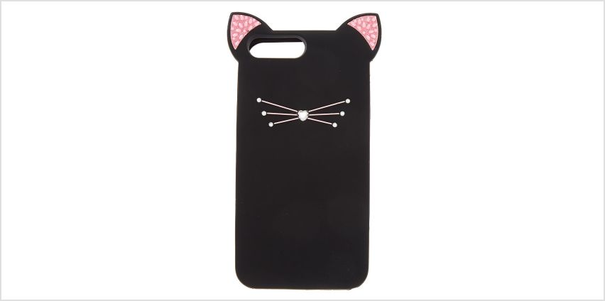 Go to Product: Silicone Black Cat Phone Case - Fits iPhone 6/7/8 Plus from Claires