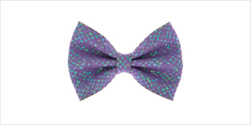 Go to Product: Mermaid Shine Hair Bow Clip - Lilac Purple from Claires