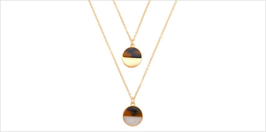 Go to Product: Gold Resin Tortoiseshell Pendant Necklaces - 2 Pack from Claires