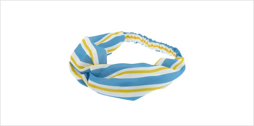 Go to Product: Stripe Knot Turban Headwrap - Blue from Claires