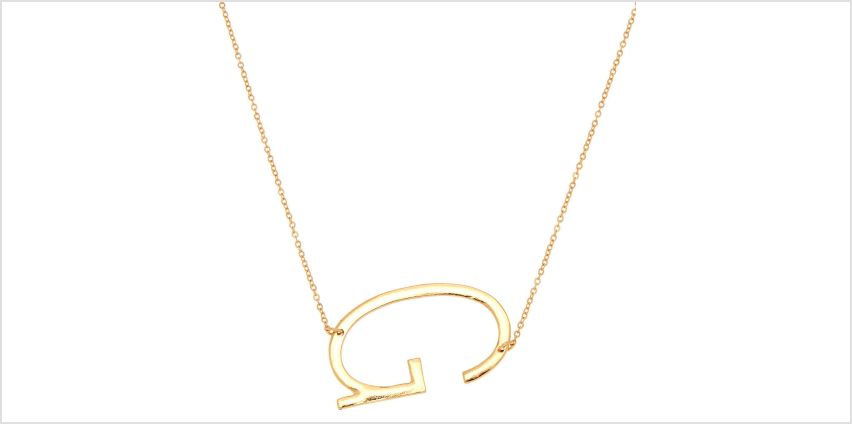 Go to Product: Oversized Initial Pendant Necklace - G from Claires