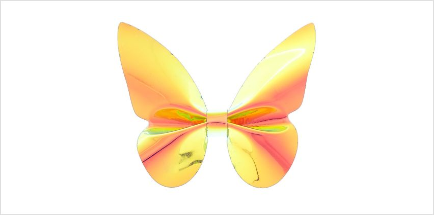 Go to Product: Holographic Butterfly Mini Hair Clip - Orange from Claires
