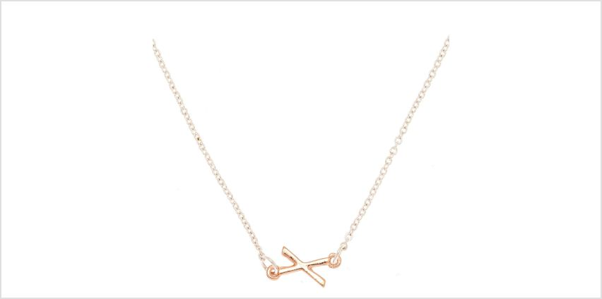 Go to Product: Mixed Metal Sideways Initial Pendant Necklace - X from Claires