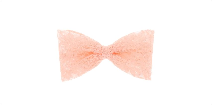 Go to Product: Lace Hair Bow Clip - Pink from Claires