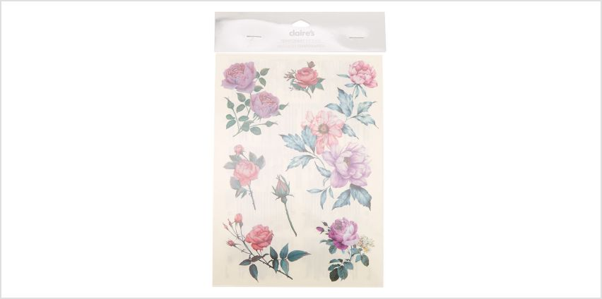 Go to Product: Rose Flower Temporary Tattoos from Claires