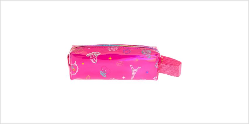 Go to Product: Holographic Doodle Pencil Case - Pink from Claires