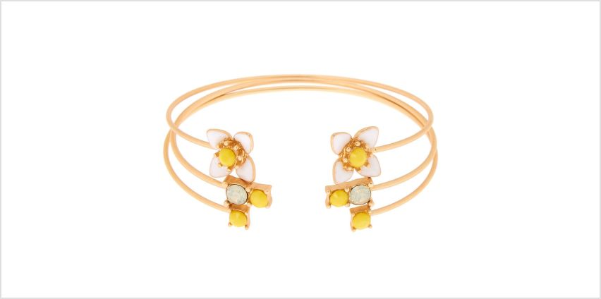 Go to Product: Gold Daisy Cuff Bracelets - 3 Pack from Claires