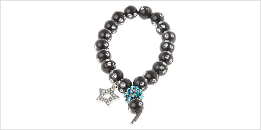 Go to Product: Fireball Star Beaded Stretch Bracelet - Black from Claires