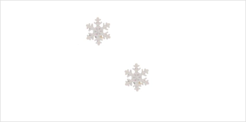 Go to Product: Glitter Snowflake Stud Earrings - White from Claires