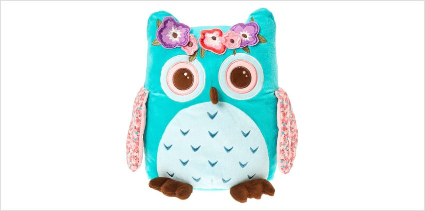 Claire's Club Medium Hazel the Owl Soft Toy - Teal from Claires