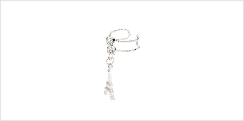 Go to Product: Silver Eiffel Tower Double Row Ear Cuff from Claires