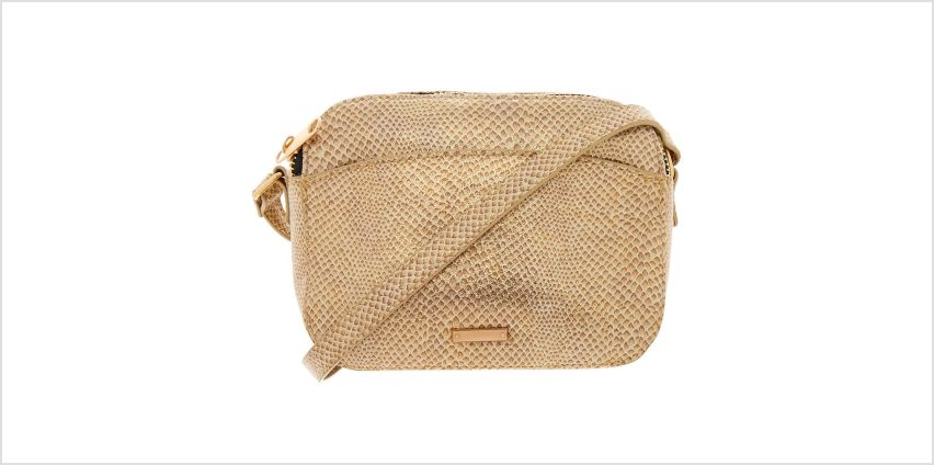 Go to Product: Snake Skin Crossbody Bag - Gold from Claires