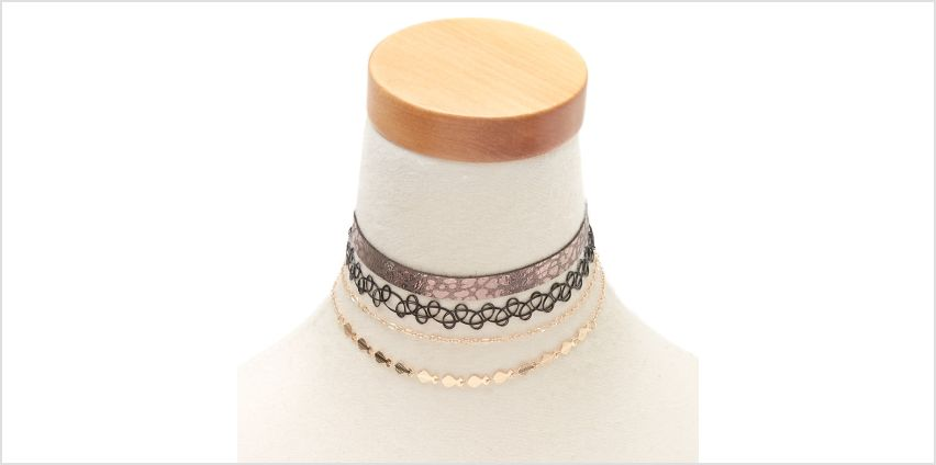Go to Product: Wild Side Choker Necklaces - 4 Pack from Claires