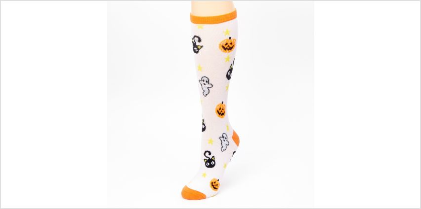 Go to Product: Halloween Icon Crew Socks - White from Claires