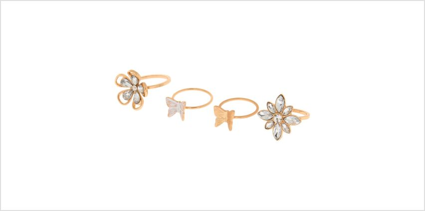 Go to Product: Gold Garden Party Rings - 4 Pack from Claires