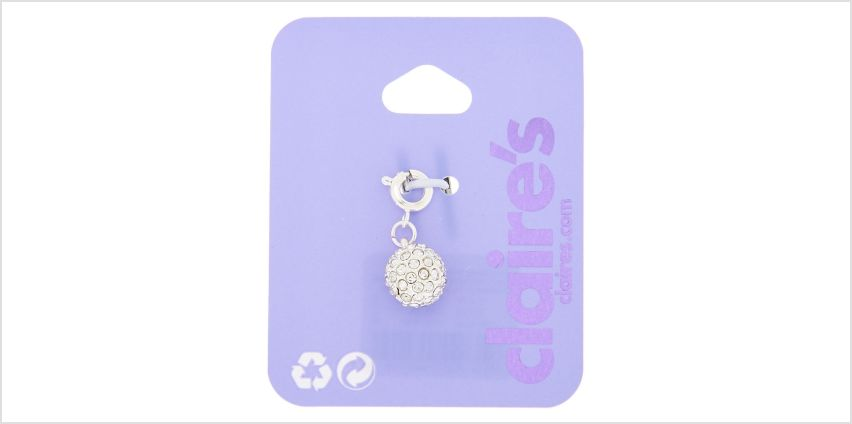 Go to Product: Silver Fireball Bracelet Charm from Claires
