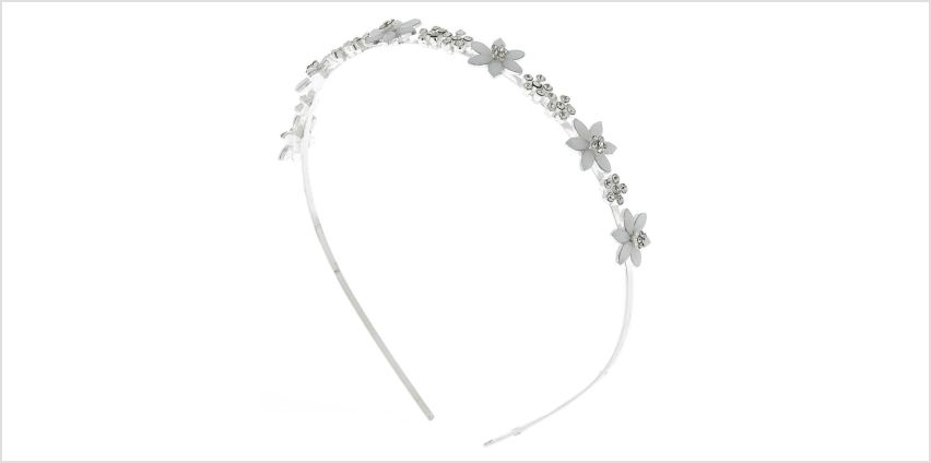 Go to Product: Silver Frosted Flower Headband from Claires