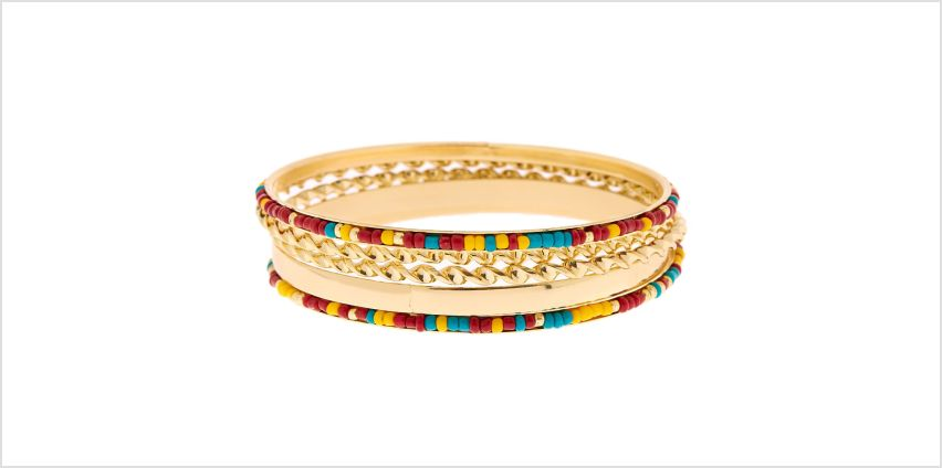 Go to Product: Gold Desert Bangle Bracelets - 5 Pack from Claires