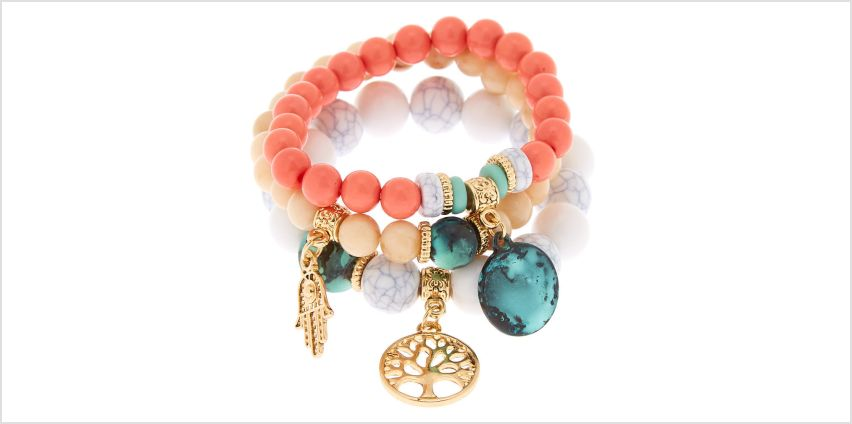Go to Product: Gold Hamsa Tree Beaded Stretch Bracelets - 3 Pack from Claires