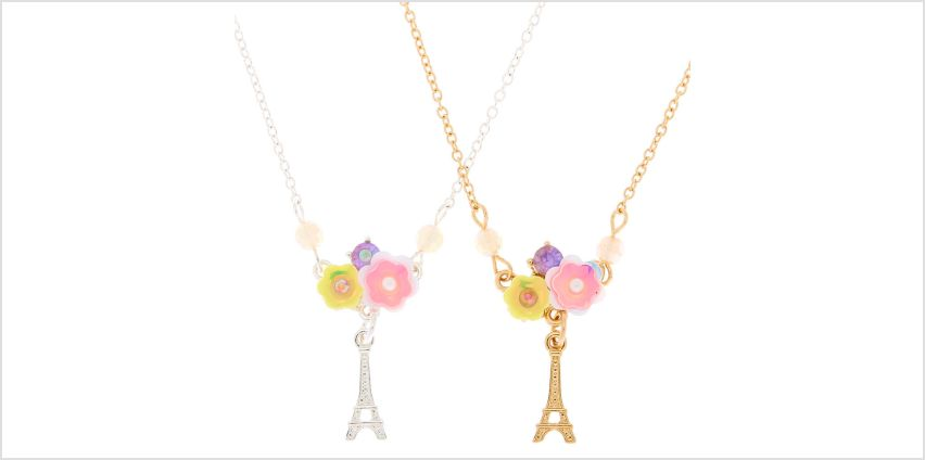 Go to Product: Best Friends Flower Paris Pendant Necklaces - 2 Pack from Claires