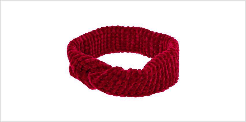 Go to Product: Ribbed Velvet Twisted Headwrap - Burgundy from Claires