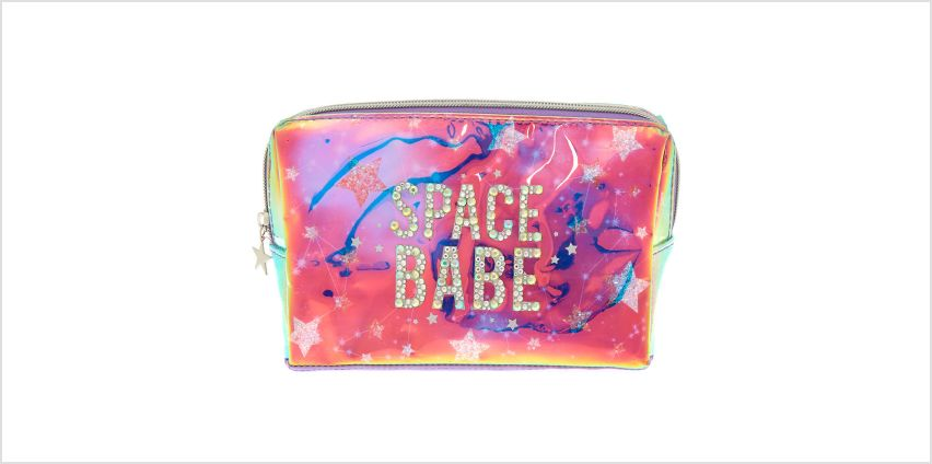 Space Babe Holographic Makeup Bag from Claires
