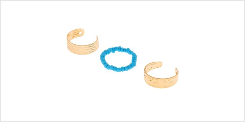 Go to Product: Gold Boho Elephant Toe Rings - Turquoise, 3 Pack from Claires