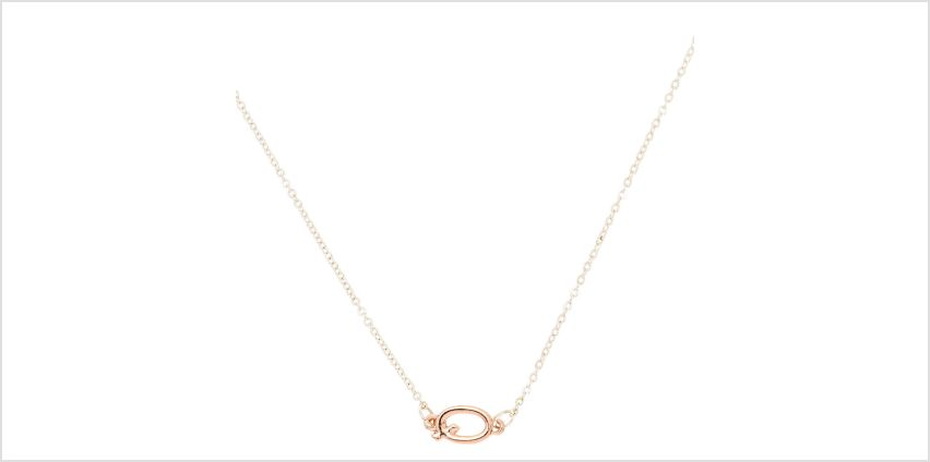 Go to Product: Mixed Metal Sideways Initial Pendant Necklace - Q from Claires
