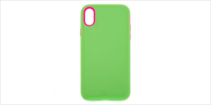 Go to Product: Neon Green Protective Phone Case - Fits iPhone XR from Claires