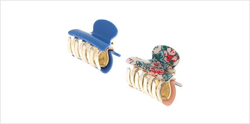 Go to Product: Floral Mini Hair Claws - Denim Blue, 2 Pack from Claires