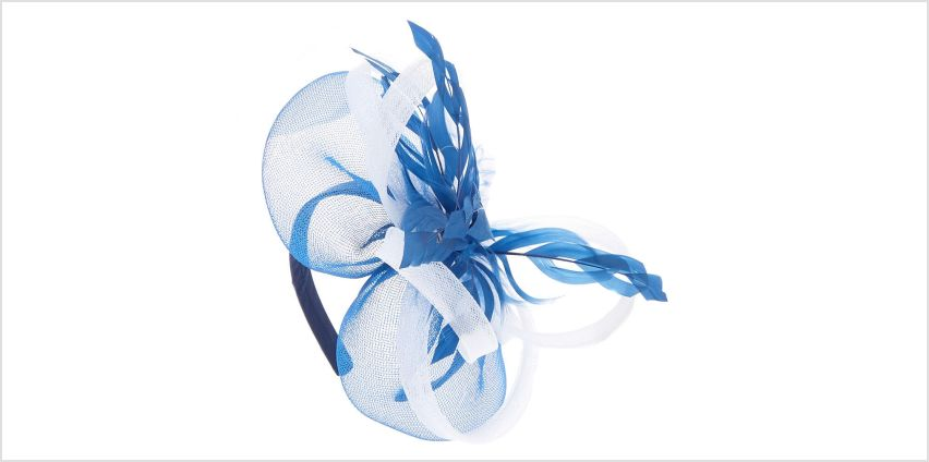 Go to Product: Royal Feather Hair Fascinator Headband - Navy from Claires