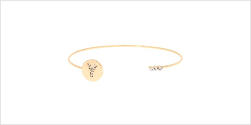 Go to Product: Gold Initial Cuff Bracelet - Y from Claires