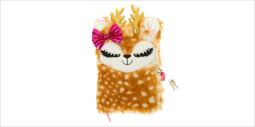 Go to Product: Ginger the Deer Plush Lock Diary - Brown from Claires