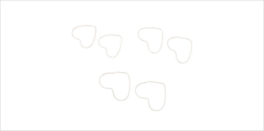 Go to Product: Sterling Silver Open Heart Hoop Earrings - 3 Pack from Claires