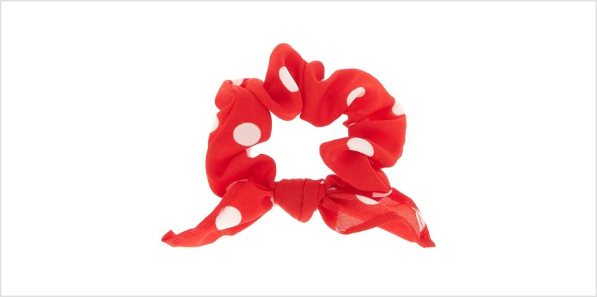 Go to Product: Small Polka Dot Knotted Bow Hair Scrunchie - Red from Claires