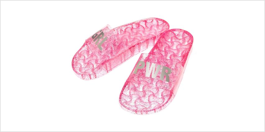 Jelly GRL PWR Pool Slide Sandals - Pink from Claires