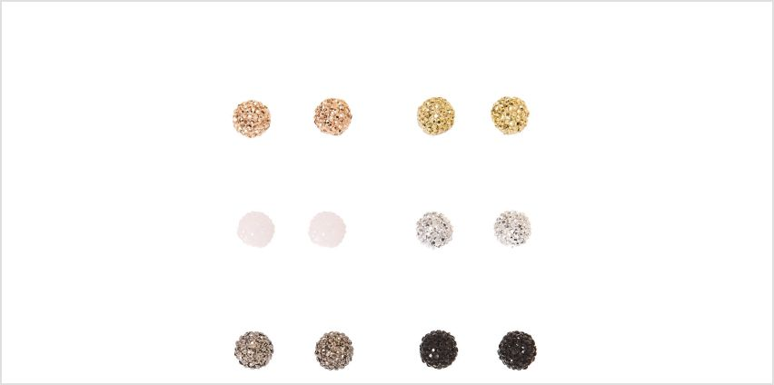 Go to Product: Mixed Metal Small Fireball Stud Earrings from Claires