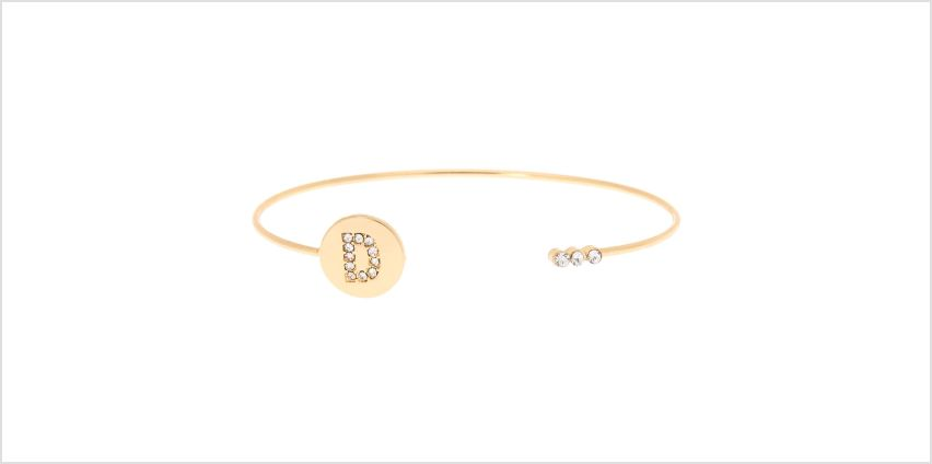 Go to Product: Gold Initial Cuff Bracelet - D from Claires